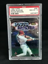 1999 Topps POWER BROKERS #PB1 - MARK McGWIRE - PSA 10 Gem Mint - Scratched Case