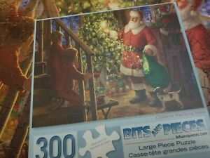 Bits And Pieces Children Watching Santa Puzzle 300 Pieces Large Complete