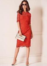 KALEIDOSCOPE LADIES ORANGE LACE SHIFT PARTY WEDDING DRESS SIZE UK 20 BRAND NEW