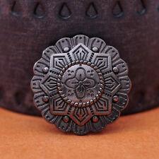 2X Antique Silver Western 3d Star Engraved Leathercraft Belt Conchos Screwback