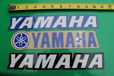 YAMAHA Racing Blue Black White Clear Motocross Motorcycle Thick 3M STICKER x 3