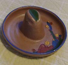 """Vintage Cowboy Hat Sombrero Ashtray 6""""W x 6.5""""L Cigar Catus"""
