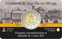 Coincard 2 euros BELGIQUE 2017 français - 200 ans de l'Université de Liège - UNC