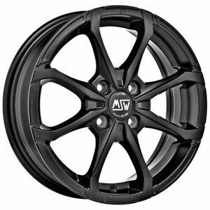 CERCHI IN LEGA MSW X4 PER FIAT 600 5.5x14 4x100 ET 35 MATT BLACK b39