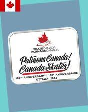 2014 Skate Canada / Patinage Canada (Cfsa) 100th Anniversary Lapel Pin - Mint