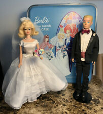 """Barbie Trousseau Trunk"" & Wedding Set With Dolls #947̓ RARE HTF"