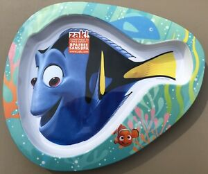 Zak! Children's FINDING DORY NEMO Melamine Fish Shaped Plate BPA-Free