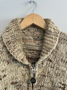 Vintage Cowichan Sweater -Genuine Made in Canada-SIZE M Indigenous Knit Cowichee