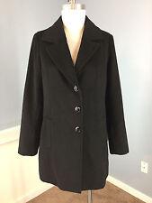 J JILL XS Black Wool Blend Long Coat Excellent