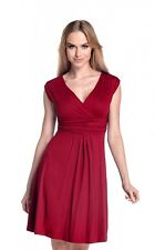 Glamour Empire Women's Sleeveless Circle Skater Flattering Summer Dress 8-20 256 Crimson UK 10