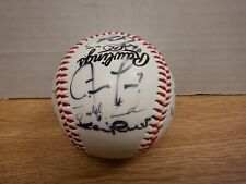 Autographed Spring Training Baseball with 8 Signatures w/COA 070820DBT