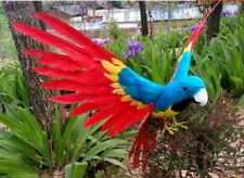 simulation colourful parrot toy plastic&fur wings parrot model gift 30x45cm