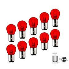 10x BAZ15D Lampe 21Watt 4 Watt 12V Glühbirne ROT P21/4W keine LED Bremslicht