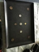 """Vintage Mid Century COUROC Tray With Foreign Coins 15""""x10.5"""""""