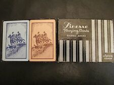 1930's Finesse Gibson Playing Cards Two Full Decks Box Horses Dogs Hunting