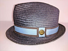 18fca35d4ab8b GOORIN BROS FEDORA Hat Mens Size Small Grey Gray With Blue And Brown Band