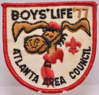 1977 Atlanta Georgia Area Council Patch BSA Boy Scouts Boys Life