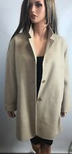 Eileen Fisher Wool Blend Oatmeal Long Jacket, Size S/P