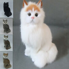 Cute Lifelike Cat Doll Realistic Simulation Creative Home Decor Kid Kitten Model
