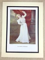 1899 Antique Print Portrait of Marie Studholme Victorian Actress Girl Lady Stage