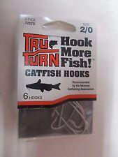 36 Tru Turn Style 722ZS Hooks Size 2/0  Catfish Hooks 6 packages of 6 Hooks  NEW