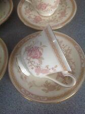 Royal Doulton Bone China Cups & Saucers Set Romance Collection  'Lisette'