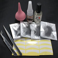 10in1 False Individual Extension Kit Eyelash Glue Remover Tweezers Tape Tools