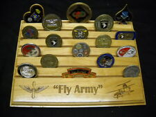 """Military Challenge Coin Holder 9x12, """"FLY ARMY """" Black Hawk"""