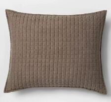 Project 62 + Nate Berkus Washed Linen Blend Sham, Standard, Brown