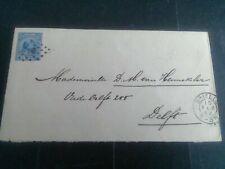 Nederland Envelop Geuzendam 5 Brielle-Delft 1892 puntstempel 18 kleinrondBRIELLE