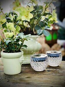 2x Solithia LED Solarleuchten Solar Tisch Gartenleuchten Lampe Deko Leuchten