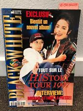 Michael Jackson Black & White magazine no 23 thriller fedora not signed smile