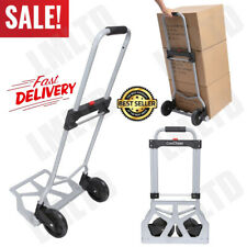 Portable Folding Hand Truck Dolly Luggage Carts, 220 lbs Handling Shopping Cart