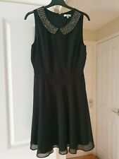 Pretty New Look Little Black Dress, Fit & Flare, Fully Lined, Size 10, VGC