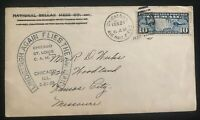 1928 Chicago IL USA First Day Cover FDC Lindbergh Again Flies Airmail