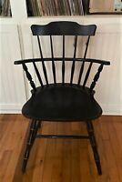 Vintage Nichols & Stone Windsor Arm Side Chair ~ Black & Gold - WE SHIP!