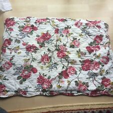 Lauren Ralph Lauren Standard Pillow Sham Floral Quilted White Red Pink