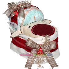 """✿ Kleines Windelbettchen """"Baby Rentier"""" ✿Geschenk Geburt Windeltorte Weihnachten"""