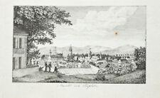 c1820 Teplice Teplitz Böhmen Bohemia Kupferstich-Ansicht Wiederhold