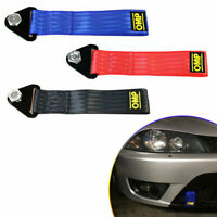 New Red High Strength Racing Tow Strap Set for Front Rear Bumper Towing Hook s