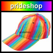 Rainbow Stripe Baseball Cap Hat Lesbian Gay Pride #881