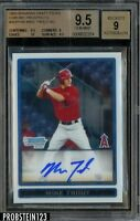 2009 Bowman Chrome Mike Trout RC Rookie Signed AUTO Angels BGS 9.5 w/ 10