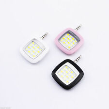 Selfie Fill Flash Light 16 LED Camera Smart 3.5mm For Android IOS iPhone Samsung