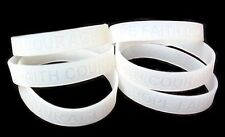 Lung Cancer Awareness Bracelets Lot of 6 Clear Translucent Silicone IMPERFECT
