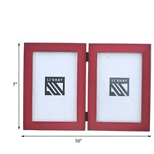 Brown Picture Frame Friend Gift Classic Double Photo Frame 4 x 6  Holds 2 Photos