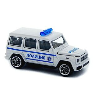 Mercedes-Benz AMG G 63 Brabus W463 Majorette Bulgarian Police 250B 1:64 2020