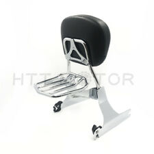 Detachable Backrest Sissy Bar&Luggage Rack For Harley Dyna Low Rider FXDL 06-UP