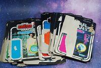 Pick 1 or More: VINTAGE STAR WARS ACTION FIGURE CARDBACK KENNER card back