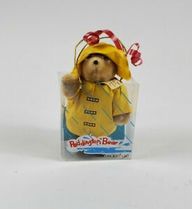 "Paddington Bear Yellow Rain Coat & Hat Eden Toys 5"" Plush"