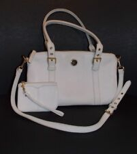 Dooney & Bourke Handbag with Matching Wristlet Leather Satchel White Purse